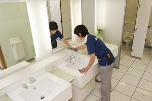 ビル内洗面所清掃業務